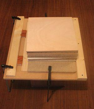 Collage de la table : méthode traditionnelle