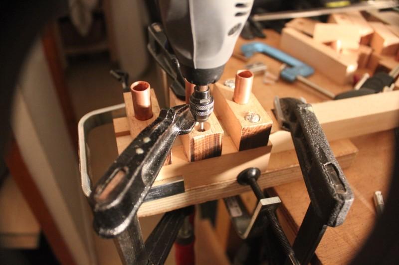 Perçage des entretoise à 3mm (les pièces centrales sont percées à 5mm)