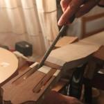 Dégrossissage des rampes avec une râpe ronde