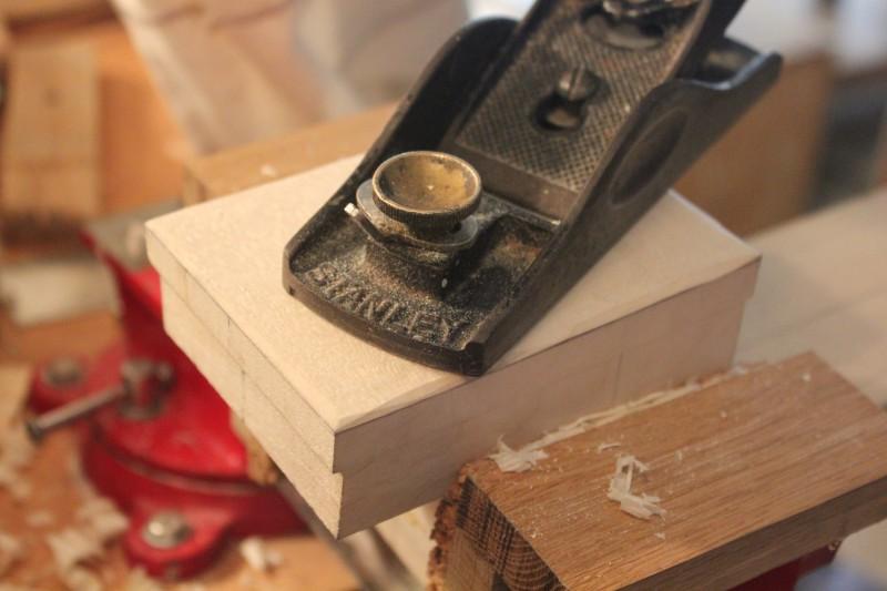 Réduction de la hauteur du talon selon une ligne A à 95mm du sol : réduction finale au rabot