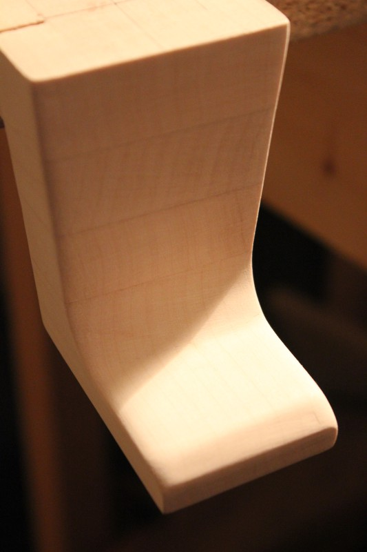 Manche : réalisation du talon, 2ème essai « Fabrication « lutherie guitare