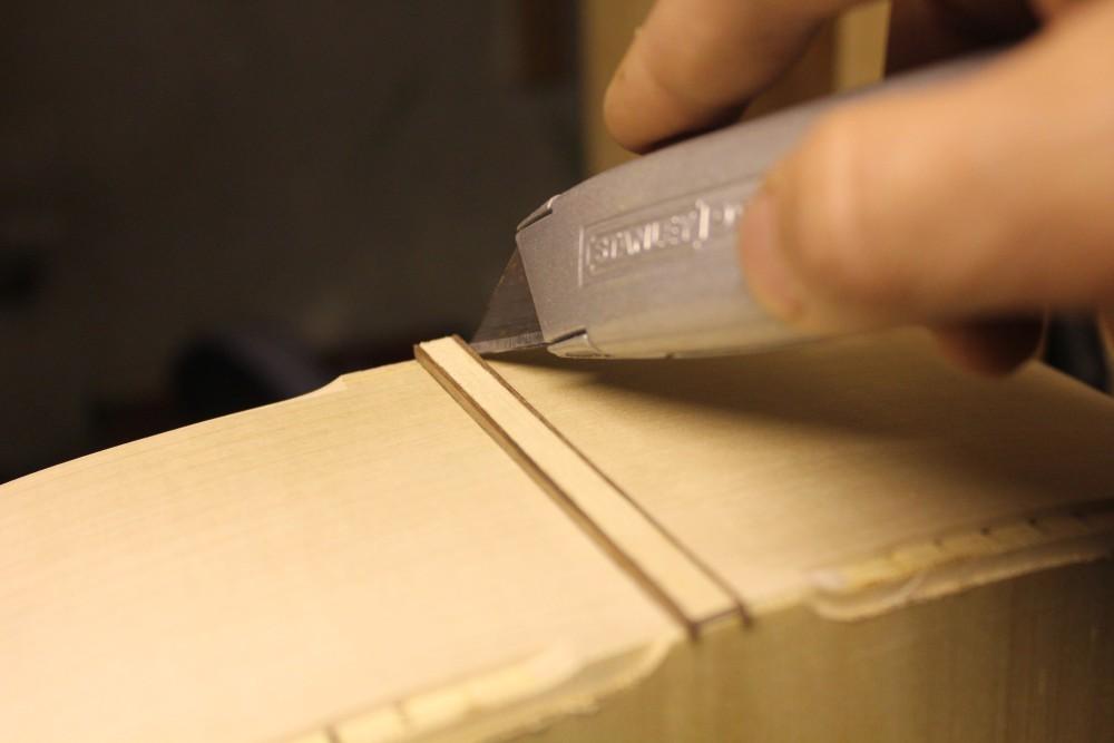 Délimitation de bords du placage