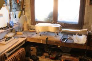 collage des filets d'éclisse : préparation de la zone de travail