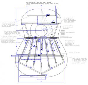 Une vue du plan du barrage sept brins de Robert Bouchet (voir liens ci-dessous pour le télécharger)