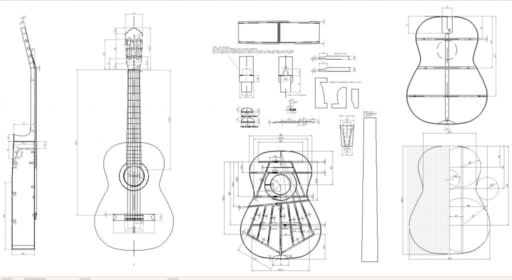 aperçu du plan de la guitare